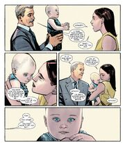 Howard Stark (Earth-616), Maria Stark (Earth-616) and Anthony Stark (Earth-616) from International Iron Man Vol 1 7 001