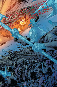 Frost Giants and Nazi Germany (Earth-1610) attacking Asgard from Ultimate Thor Vol 1 3 0002
