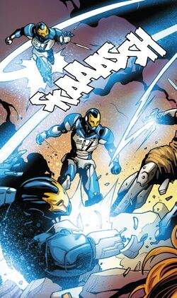 Iron Man Sentries (Earth-616) from Guardians of the Galaxy Vol 4 15 001