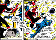 Kurt Wagner (Earth-616) and Rachel Summers (Earth-811) from Excalibur Vol 1 7 001