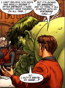 Richard Jones (Earth-616) and Avengers (Earth-616) from Avengers Earth's Mightiest Heroes Vol 1 1 001