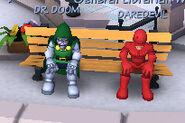 Victor von Doom (Earth-91119) and Matthew Murdock (Earth-91119) from Marvel Super Hero Squad Online 001