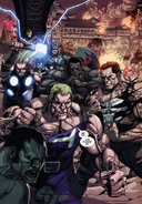 Avengers (Earth-1610) and New Ultimates (Earth-1610) Ultimate Avengers vs. New Ultimates Vol 1 5