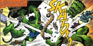 Bruce Banner (Earth-7642) and Hulk Robot (Earth-7642) from Incredible Hulk vs. Superman Vol 1 1 001