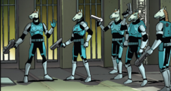 Kymellian Steel Brigade (Earth-616) from Legendary Star-Lord Vol 1 5 001