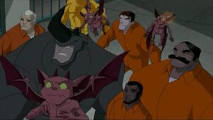 Silvio Manfredi (Earth-26496), Enforcers (Earth-26496), Alexander O'Hirn (Earth-26496), and Humonculi from Spectacular Spider-Man (Animated Series) Season 2 12 0001