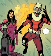Scott Lang (Earth-616) and Janice Lincoln (Earth-616) from Astonishing Ant-Man Vol 1 8