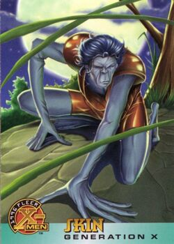 Angelo Espinosa (Earth-616) from 1996 Fleer X-Men (Trading Cards) 0001