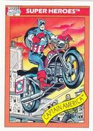 Captain America's Motercyle from Marvel Universe Cards Series I 0001