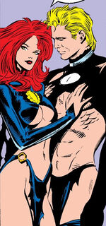 Madelyne Pryor (Earth-616) and Alexander Summers (Earth-616) from Uncanny X-Men Vol 1 242 0001