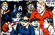 Steven Rogers (Earth-616) and Young Allies (WWII) (Earth-616) from Young Allies Vol 1 1 0001