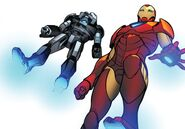 Anthony Stark (Earth-616) and James Rhodes (Earth-616) from Invincible Iron Man Vol 1 600 001