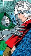 Doctor Doom's Armor, Doombot, Kristoff Vernard, Memory Transference Machine (Earth-616) from Fantastic Four Vol 1 278