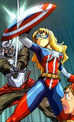Keniuchio Harada (Earth-2301) and Carol Danvers (Earth-2301) from New Mangaverse The Rings of Fate Vol 1 2 001