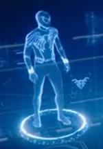Superior Spider-Man Suit Holographic schematics in Spider-Man Far From Home