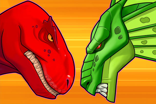 File:Devil Dinosaur (Earth-TRN562) and Fin Fang Foom (Earth-TRN562) from Marvel Avengers Academy 001.png
