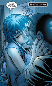 David Alleyne (Earth-616) and Noriko Ashida (Earth-616) from New X-Men Vol 2 22 0001