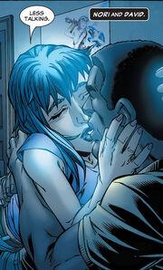 David Alleyne (Earth-616) and Noriko Ashida (Earth-616) from New X-Men Vol 2 22 0001