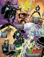 Sinister Six (Earth-71928) and Peter Parker (Earth-71928) from What If? The Punisher Vol 1 1 001