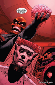 Johann Shmidt (Clone) (Earth-616) and Charles Xavier (Earth-616) from Uncanny Avengers Vol 1 1 001