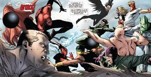 Superior Six (Earth-616) vs. Masters of Evil (Earth-616) from Superior Spider-Man Team-Up Vol 1 6 001