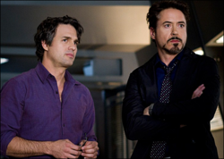 Bruce Banner (Earth-199999) and Anthony Stark (Earth-199999) from Marvel's The Avengers 0001