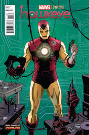 Hawkeye Vol 4 10 Many Armors of Iron Man Variant
