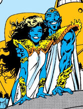 Kymri (Earth-1289) and High Priest (Earth-1289) from Excalibur Vol 1 16 0001