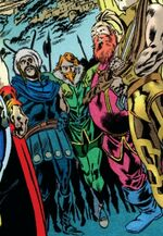 Warriors Three (Earth-53101) from Thor First Thunder Vol 1 5 0001