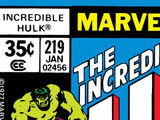 Incredible Hulk Vol 1 219