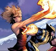 Tabitha Smith (Earth-616) and James Howlett (Earth-616) from Uncanny X-Men Vol 1 517 0001