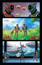 Wade Wilson (Earth-616) and Victor von Doom (Earth-11638) from Deadpool Annual Vol 1 1 0001