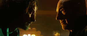 Charles Xavier (Earth-TRN414) and Charles Xavier (Earth-10005) from X-Men Days of Future Past (film) 001