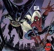 Peter Parker (Earth-7642) and Bruce Wayne (Earth-7642) from Batman and Spider-Man Vol 1 1 002