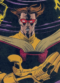 Scott Summers (Earth-TRN566) and Book of R'lyeh from Adventures of the X-Men Vol 1 4 0001