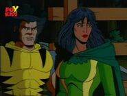 Silver Fox (Earth-92131) and Wolverine (Logan) (Earth-92131) from X-Men The Animated Series Season 3 19 0001