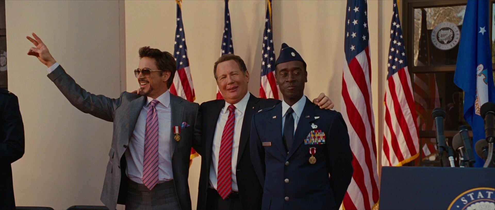 Anthony Stark (Earth-199999), James Rhodes (Earth-199999) and Senator Stern (Earth-199999) from Iron Man 2 (film) 001