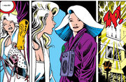 Courtney Ross (Earth-616) and Opul Lun Sat-Yr-Nin (Earth-794) from Excalibur Vol 1 5 0001