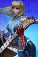 Spider-Gwen (Unmasked Gwen Stacy) from Spider-Man Unlimited (video game) 001