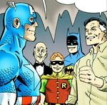 Steven Rogers (Earth-3839) and Batman Family (Earth-3839) from Batman and Captain America Vol 1 1 001