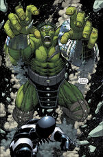 Bruce Banner (Earth-616) and Blackagar Boltagon (Skrull) (Earth-616) from World War Hulk Vol 1 1 0001