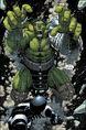 Bruce Banner (Earth-616) and Blackagar Boltagon (Skrull) (Earth-616) from World War Hulk Vol 1 1 0001.jpg