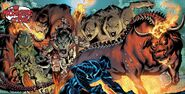 Eugene Thompson (Earth-616) vs. Daimon Hellstrom (Earth-616) and the Monsters of Evil (Earth-616) from Venom Vol 2 24 001