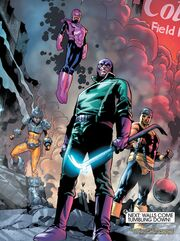 Frightful Four (Earth-616) Wizard, Bulldozer, Wrecker, Thunderball from Fantastic Four Vol 5 3