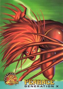 Hollow (Earth-616) from 1996 Fleer X-Men (Trading Cards) 0001