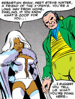 Ororo Munroe (Earth-616) and Sebastian Shaw (Earth-616) from Uncanny X-Men Vol 1 152 001