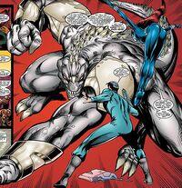 Araoha Tepania (Earth-616), Anthony Stark (Earth-616), and Natalia Romanova (Earth-616) from Iron Man Vol 3 6