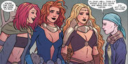 Goddesses of Thunder (Earth-14412) and Jane Foster (Earth-616) from Mighty Thor At the Gates of Valhalla Vol 1 1 001