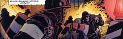 New York City Fire Department (Earth-7642) from Batman Daredevil King of New York Vol 1 1 001