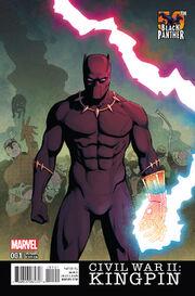 Civil War II Kingpin Vol 1 1 Black Panther 50th Anniversary Variant